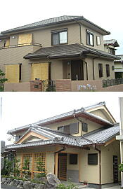 屋根工事施工例